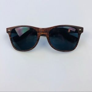 Other - Men's wood grain sunglasses plastic frame